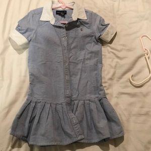 Girls Ralph Lauren oxford dress sz 5 year